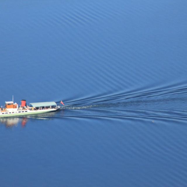 """""""Ullswater Steamer"""" stock image"""