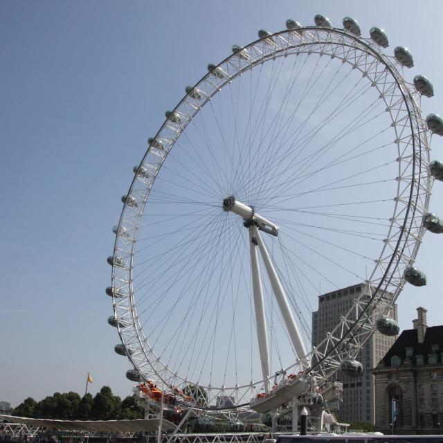"""The London Eye"" stock image"
