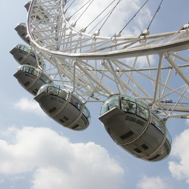 """London Eye Pods"" stock image"