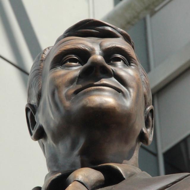 """Sir Bobby Robson"" stock image"