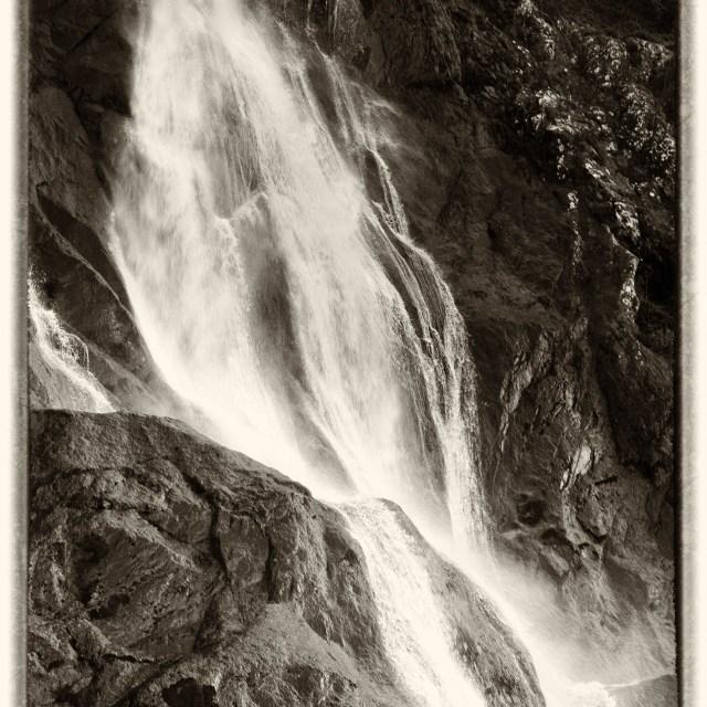 """Aber Falls"" stock image"