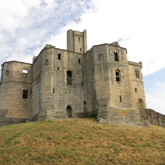 """Warkworth Castle"" stock image"