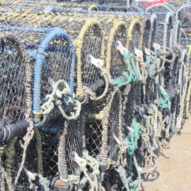 """Whitby Lobster Pots"" stock image"