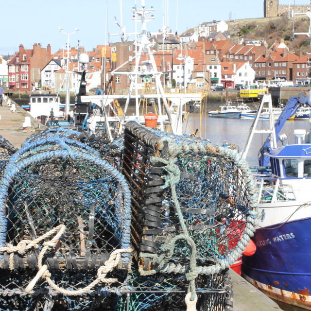 """""""Whitby Lobster Pots"""" stock image"""