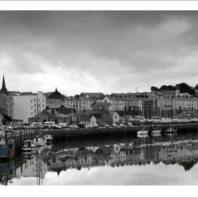 """""""Caernarfon Harbour"""" stock image"""