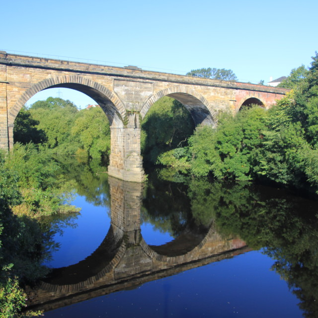 """Yarm Railway Viaduct"" stock image"