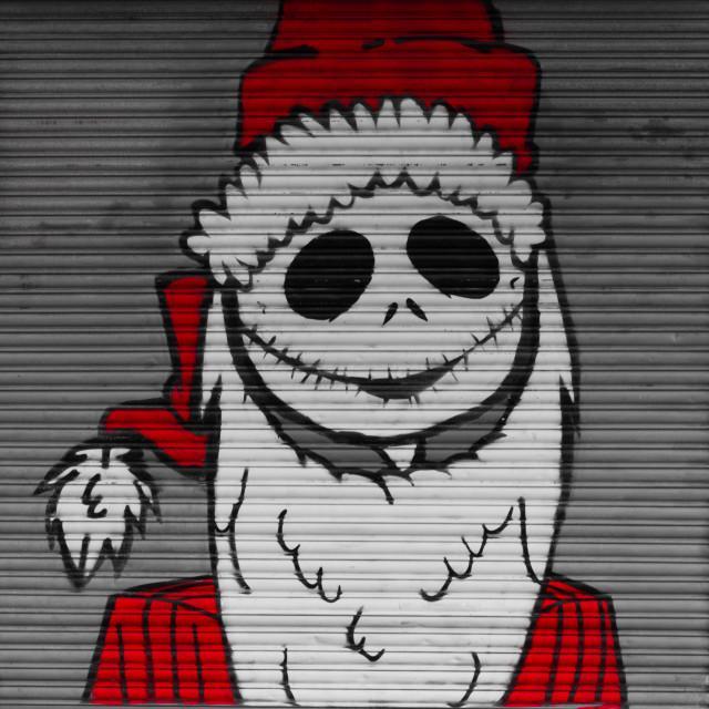 """""""Scary Santa"""" stock image"""