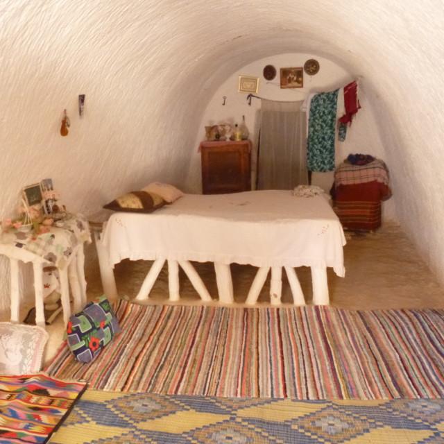"""""""Tunisian underground house"""" stock image"""