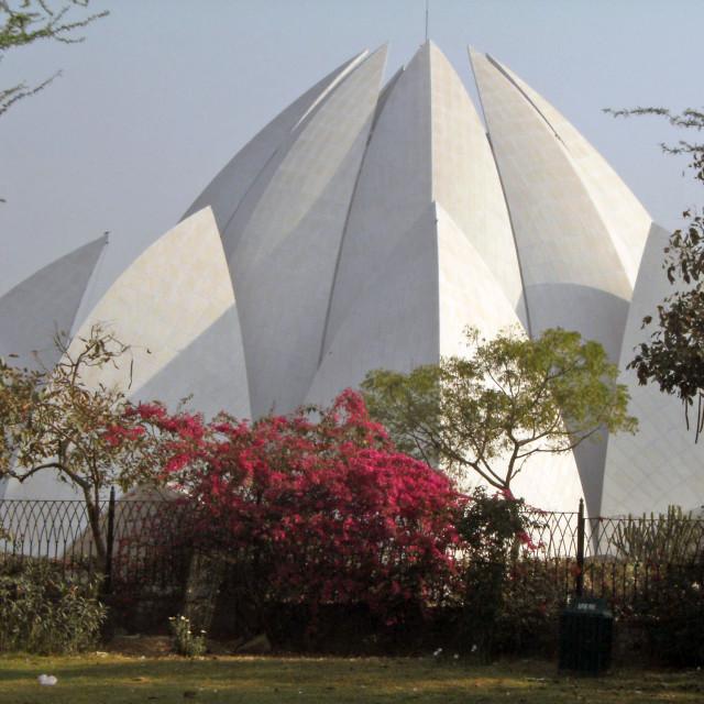 """Baha'i House of Worship, Delhi, India"" stock image"