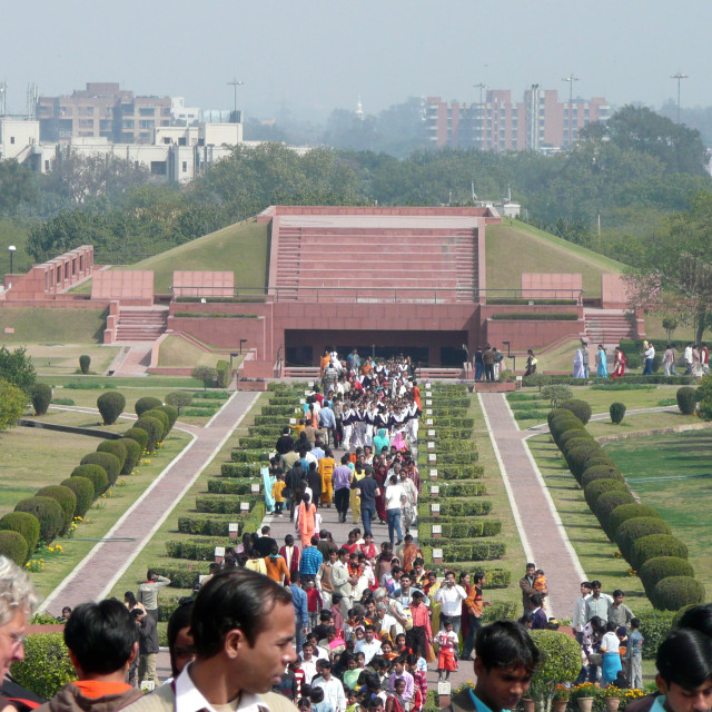 """Baha'i House of Worship, visitors, Delhi, India"" stock image"