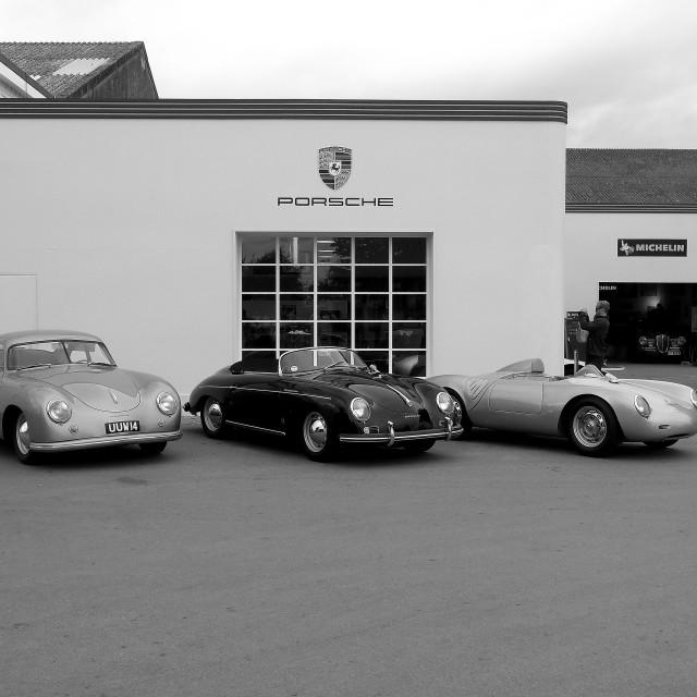 """""""Porsche Garage"""" stock image"""