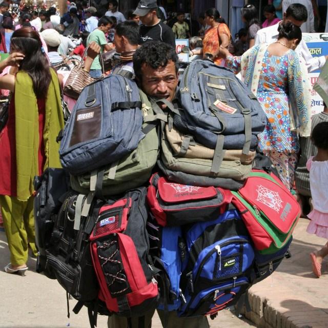 """Bag Man"" stock image"