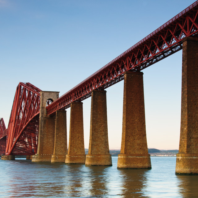 """The Forth Rail bridge"" stock image"
