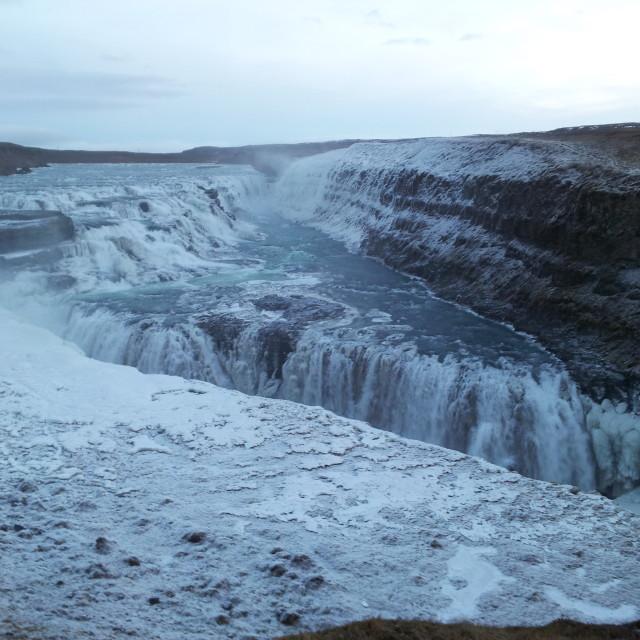 """Gullfoss Waterfall, Iceland"" stock image"