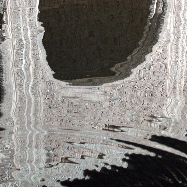 """Reflection, Nasrid Palace, Alhambra, Granada, Spain"" stock image"
