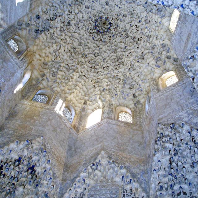 """Nasrid Palace, Alhambra, Granada, Spain"" stock image"