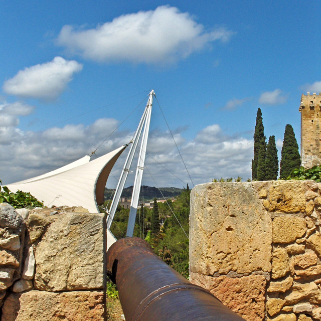 """Cannon, Tarragona, Spain"" stock image"