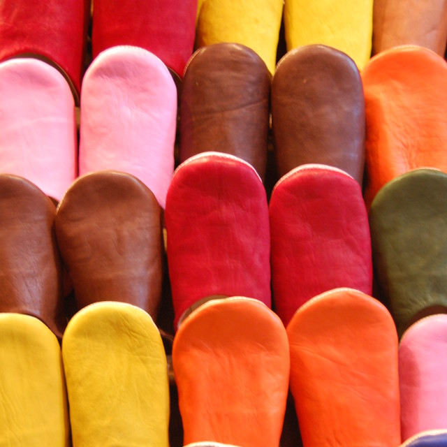"""Marrakesh slippers"" stock image"