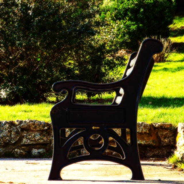 """A seat in the sun"" stock image"