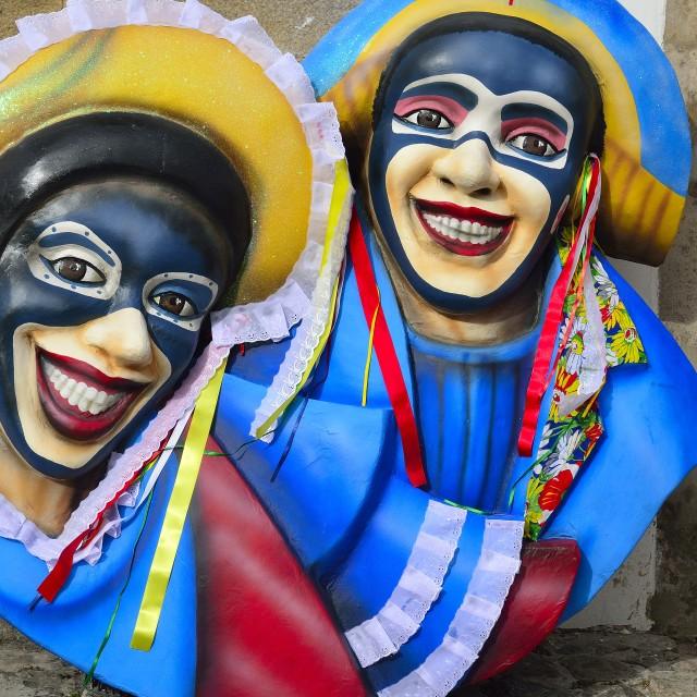 """Carnival masks, Salvador"" stock image"