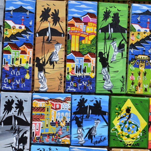 """Colour in the shops of Salvador"" stock image"