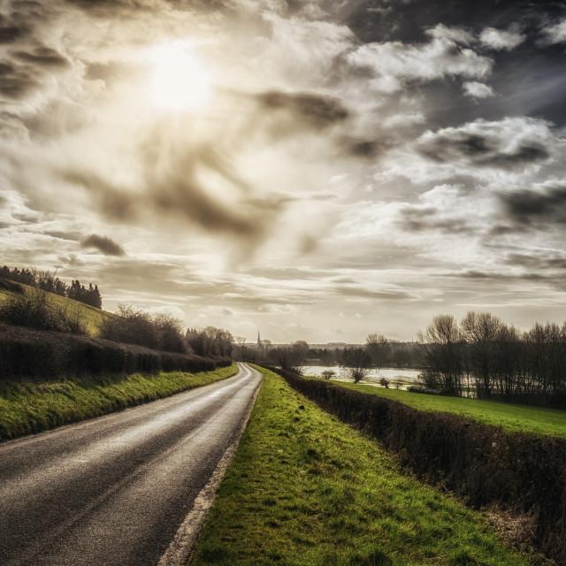 """""""Road To Salisbury"""" stock image"""