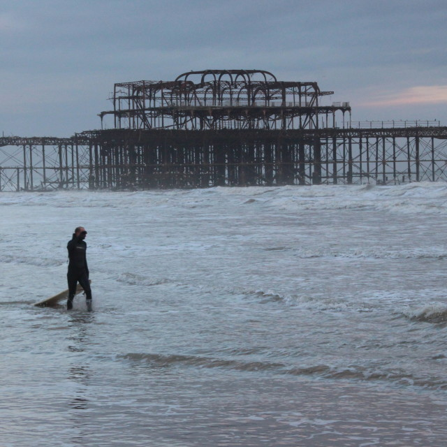"""Brighton Surfer"" stock image"