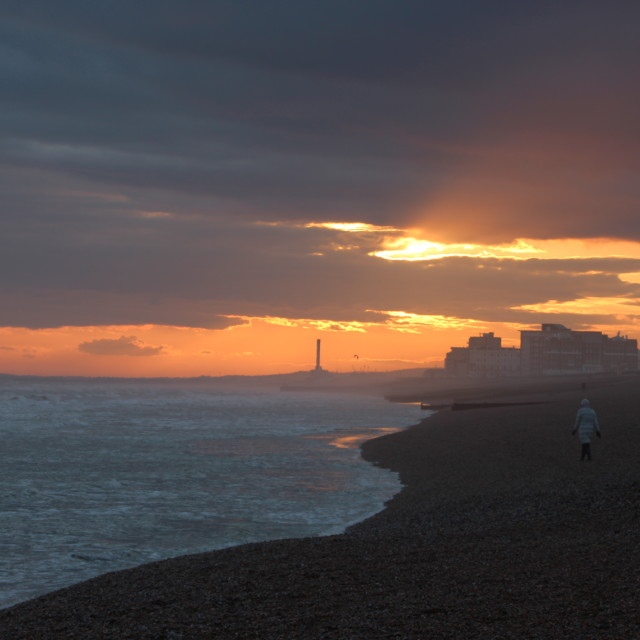 """Brighton Sunset"" stock image"
