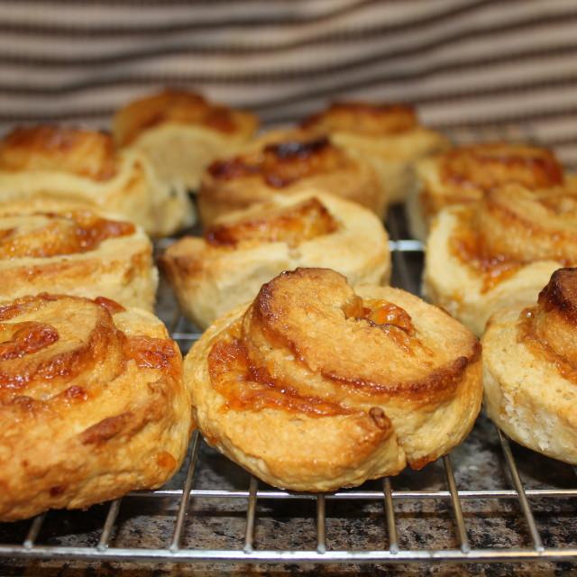 """Fresh baked Jam Swirls"" stock image"