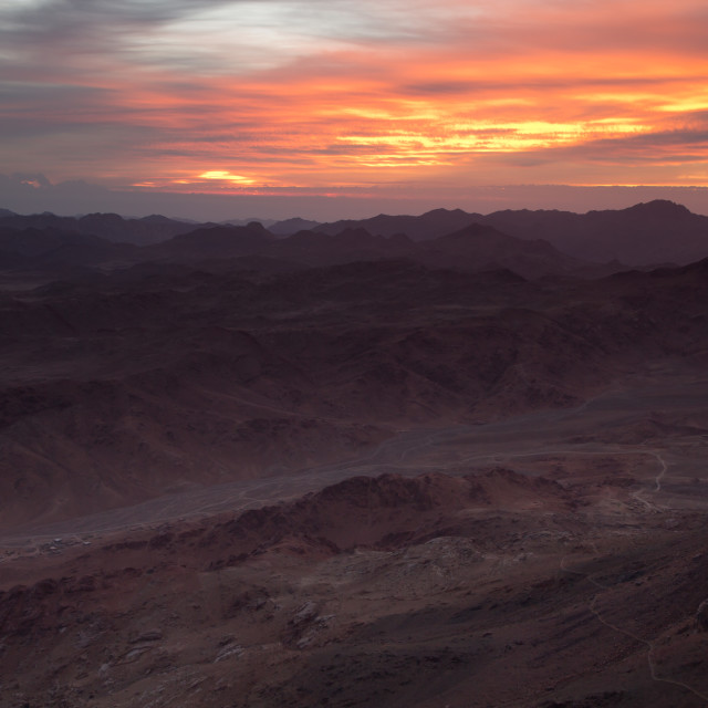 """Sunrise on Mount Sinai"" stock image"