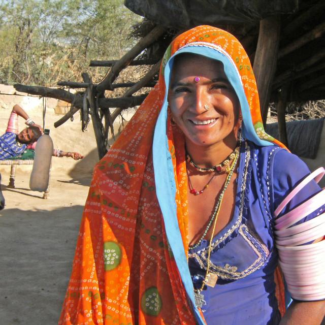 """""""Bishnoi woman"""" stock image"""