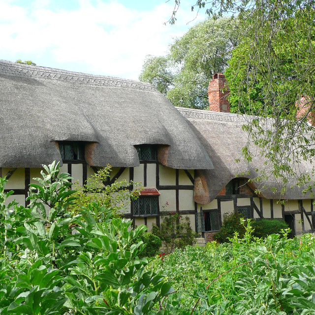 """Ann Hathaway's cottage"" stock image"