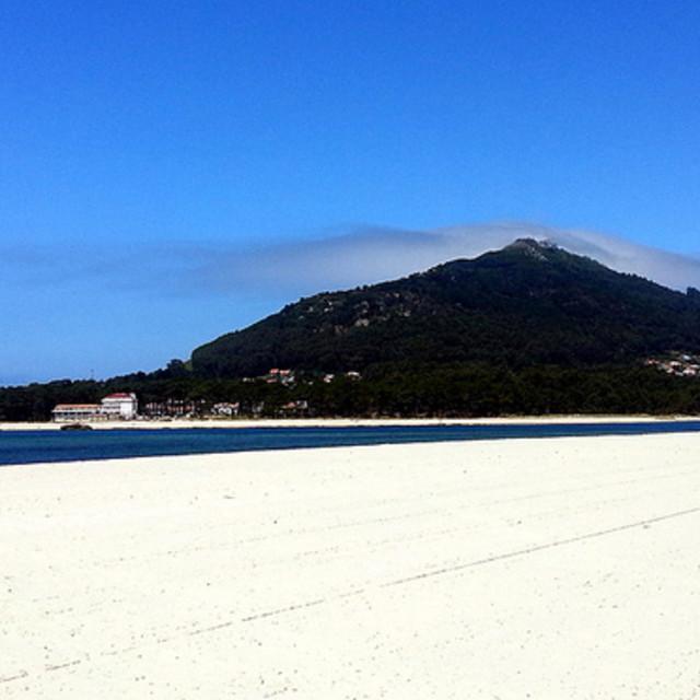 """Beach near Caminha, Portugal"" stock image"