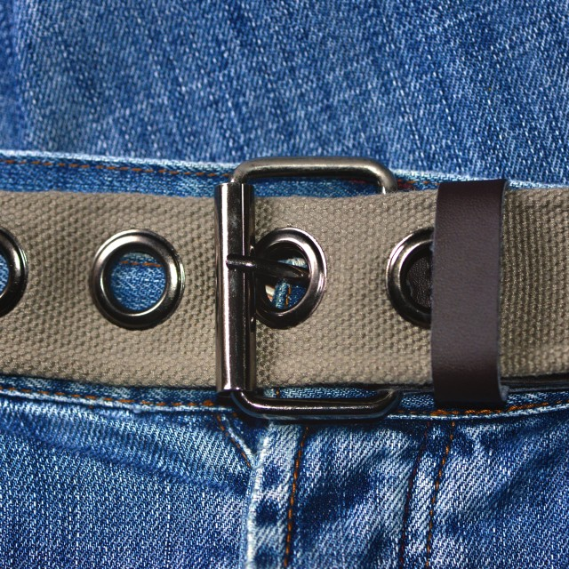 """""""Denim jeans and buckle belt"""" stock image"""