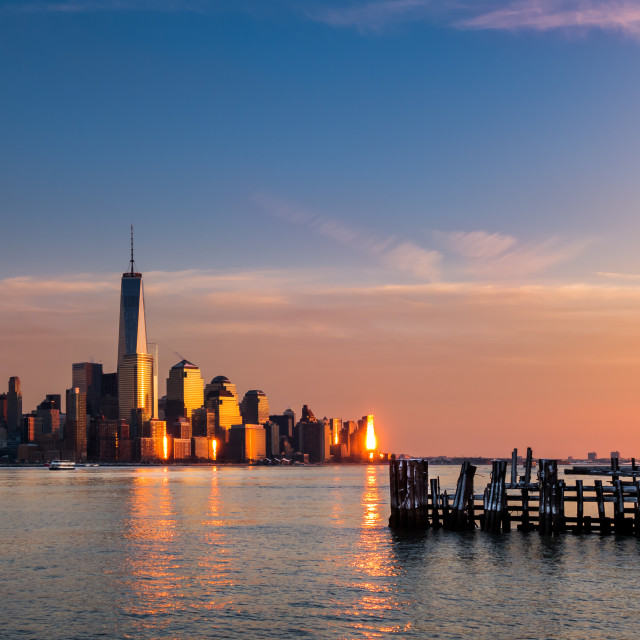 """""""Freedom Tower at Sunset NYC"""" stock image"""