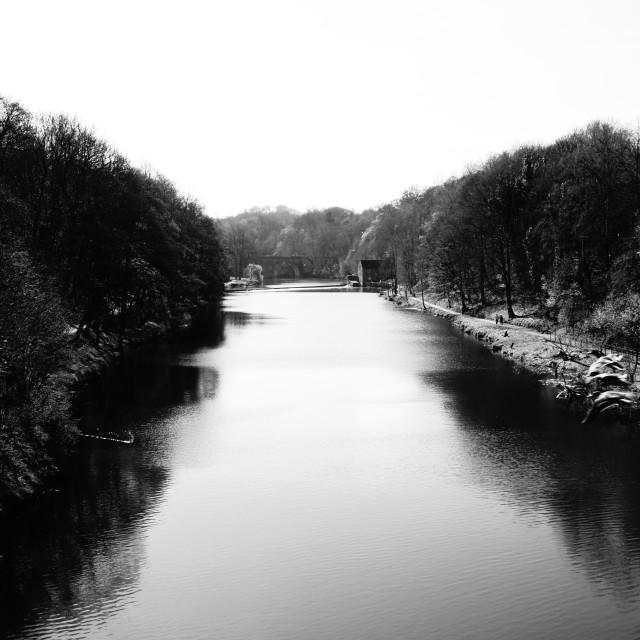 """river @ Durham"" stock image"