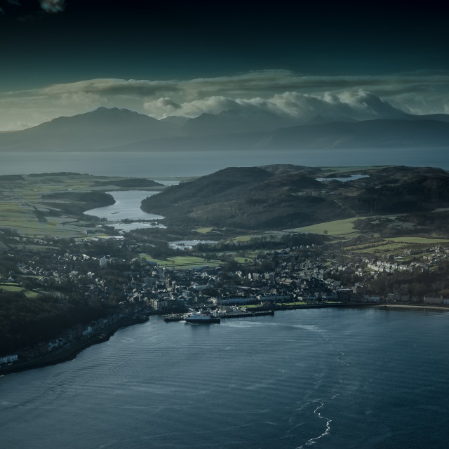 """Rothesay, Isle of Bute and the Isle of Arran"" stock image"