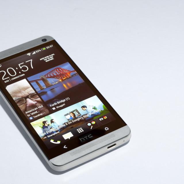 """HTC ONE Smartphone"" stock image"
