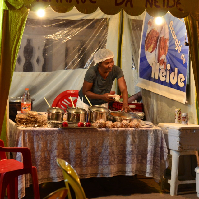 """Street food vendor, Lençois, Chapada Diamantina"" stock image"