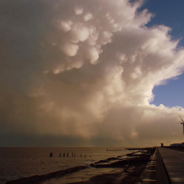 """Mammatus clouds"" stock image"