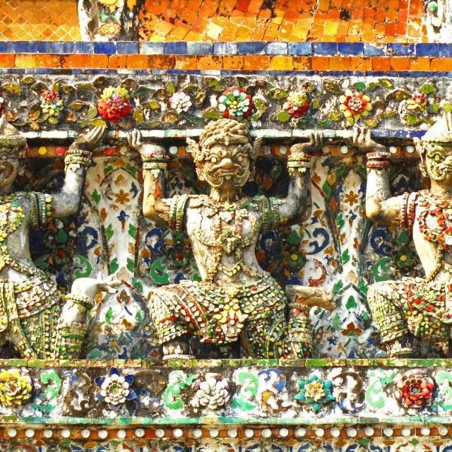 """""""Detail, Wat Arun"""" stock image"""