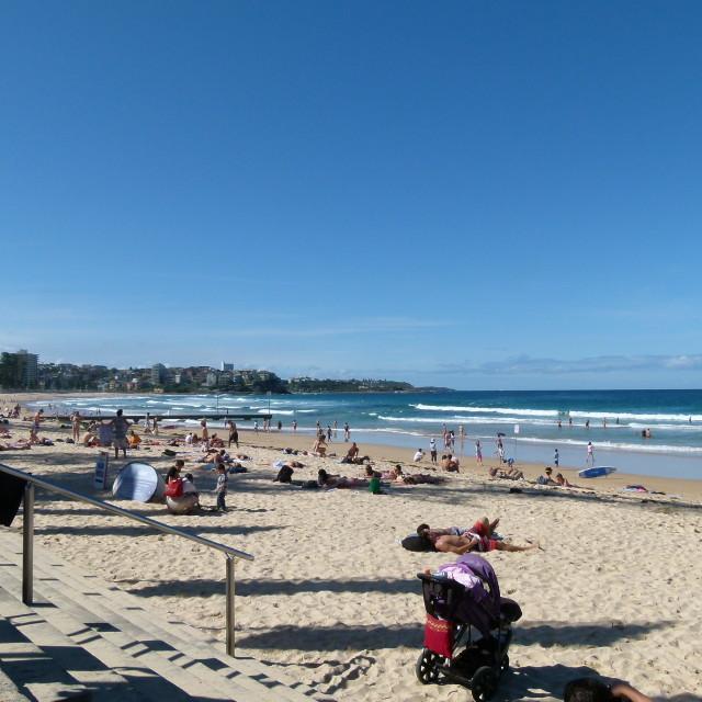 """Manly Beach, Sydney"" stock image"