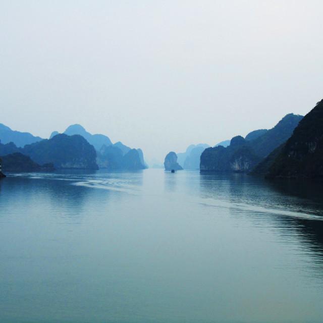 """Winter's Ha Long Bay"" stock image"