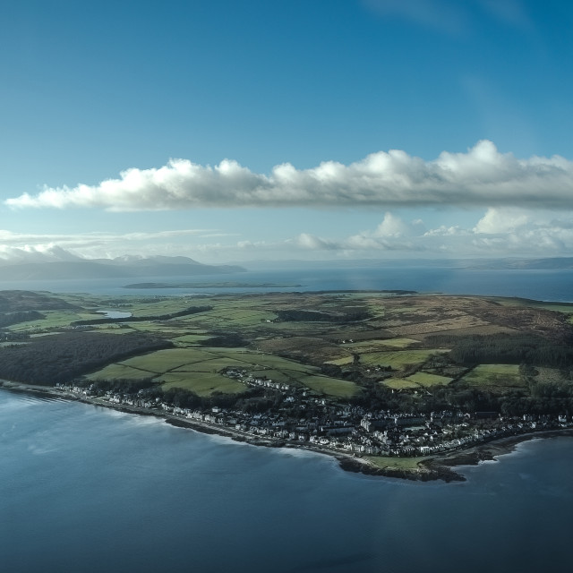 """The Isle of Bute"" stock image"