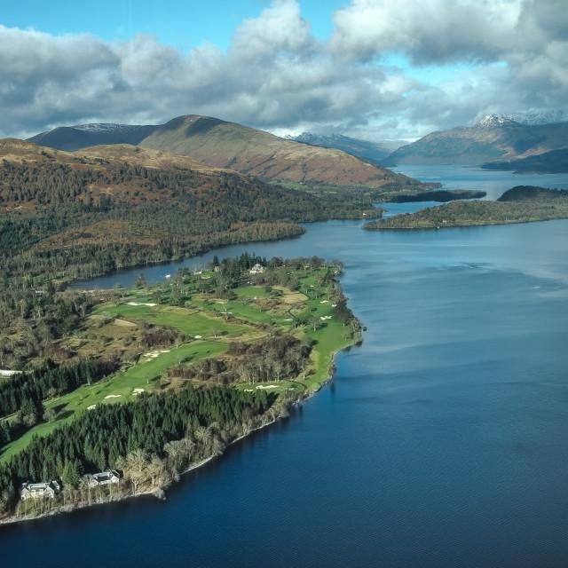 """The Carrick Golf Club, Loch Lomond"" stock image"