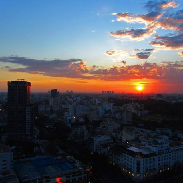 """Saigon Sunset"" stock image"