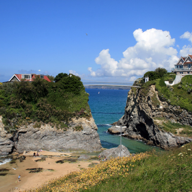 """The Island, Newquay"" stock image"