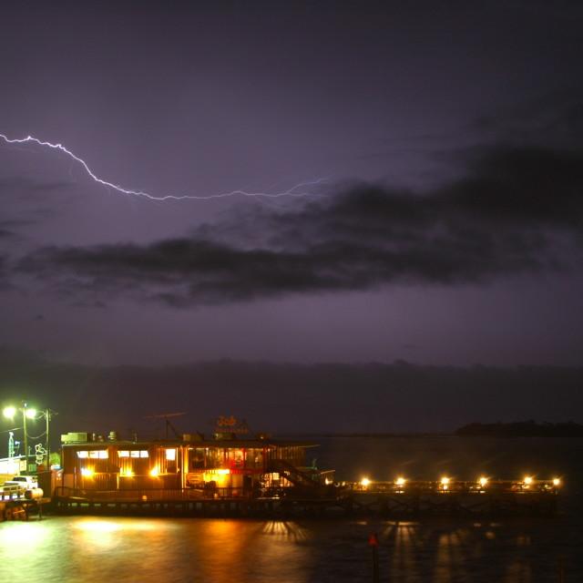 """Captain's Table Lightning"" stock image"