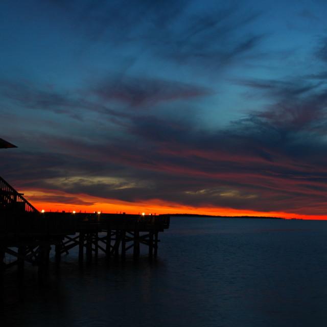 """""""Cedar Key sunset"""" stock image"""