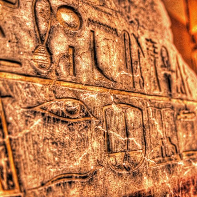 """Hieroglyphics"" stock image"
